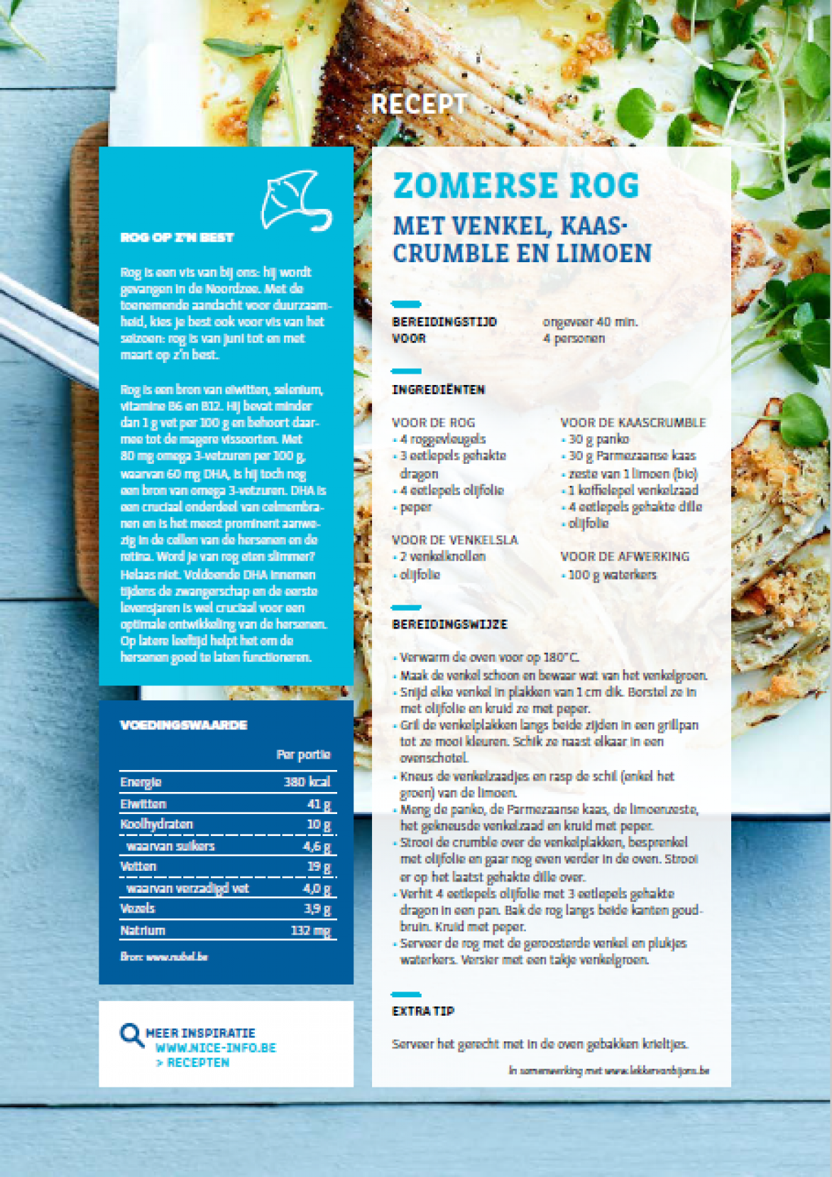 RECEPTFICHE - Zomerse rog